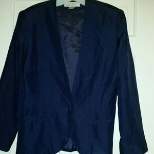 Argenti Navy Blue Silk Jacket Sz 14
